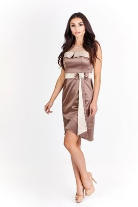 Dress FSU224 CHOCOLATE CHAMPAGNE