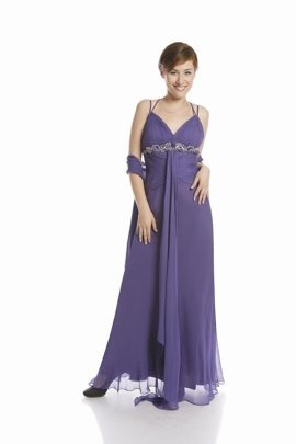 FSU701 Dress DARK VIOLET
