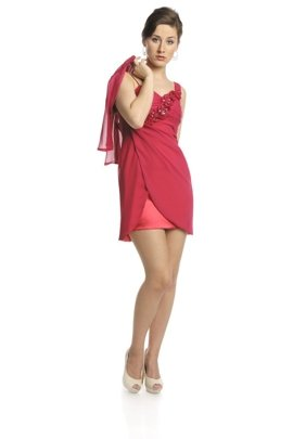 FSU736 Dress MEDIUM AMARANTH