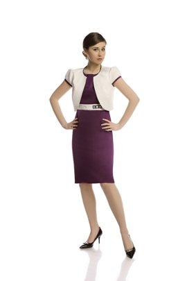 Suit FGA206 DARK PLUM IVORY