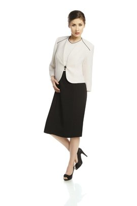 Suit FGA249 BLACK IVORY