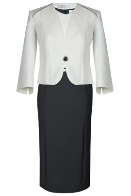 Suit FGA249 GREY IVORY
