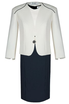 Suit FGA249 NAVY IVORY