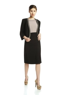 Suit FGA250 BLACK BEIGE