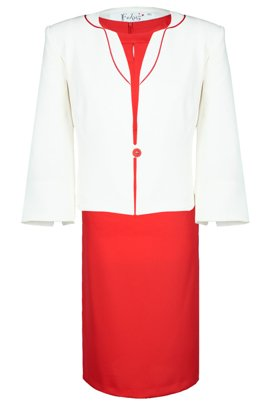 Suit FGA252 RED IVORY