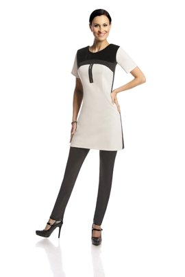 Tunic FTU286 IVORY BLACK