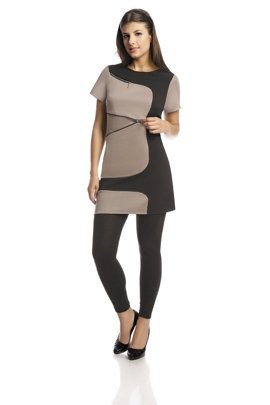 Tunic FTU303 BLACK DARK BEIGE