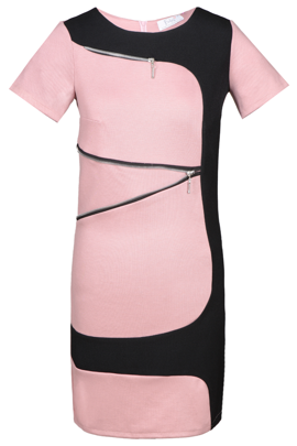 Tunic FTU303 BLACK DIRTY PINK
