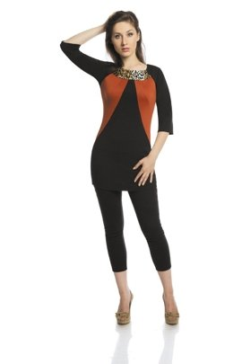 Tunic FTU305 BLACK RUST