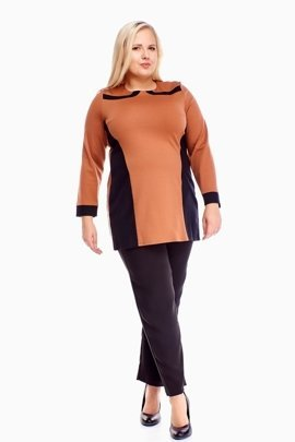 Tunic FTU320 BLACK DARK BEIGE
