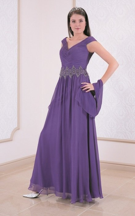 FSU713 Dress DARK VIOLET