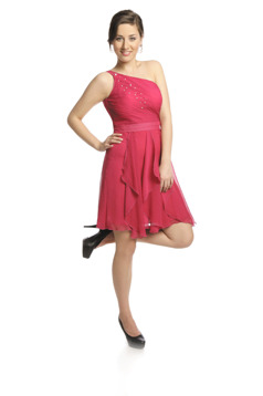 FSU739 Dress MEDIUM AMARANTH