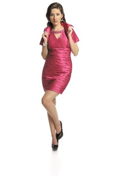 FSU740 Dress MEDIUM AMARANTH