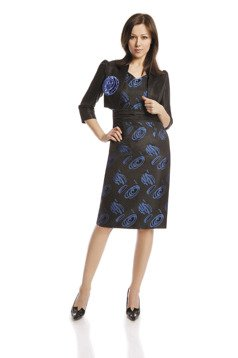 Suit FGA188 BLACK CORNFLOWER BLUE