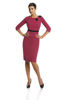 Dress FSU287 MEDIUM AMARANTH BLACK