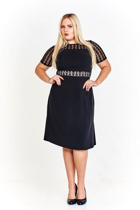 b445af9045dad8 Sukienka FSU985 CZARNY | KOBIETA \ Classic Line Dress KOBIETA ...
