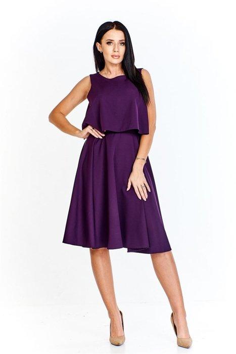 66d806156b44 Sukienka o lekko rozkloszowanym dole imitująca luźną krótką bluzkę i  spódnicę do kolan