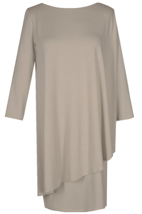 456b2a1b3b Sukienka FSU696 BEŻOWY Sukienka FSU696 beżowy