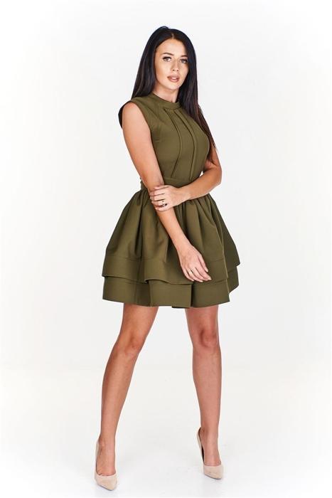 3da8eeff Elegancka sukienka z falbaniastym dołem Zielony | KOBIETA \ Classic ...