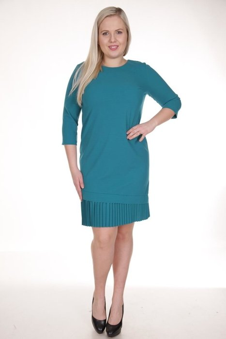 ee0b15fe Sukienka FSU905 ZIELONY MORSKI