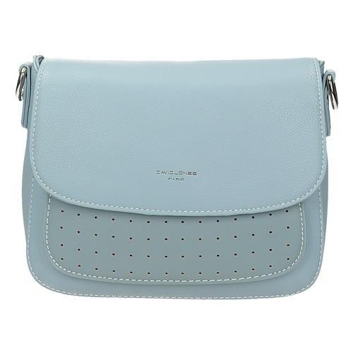 f86f34595b97f Niebieska torebka listonoszka z ażurowym przodem DAVID JONES 5939-2 ...