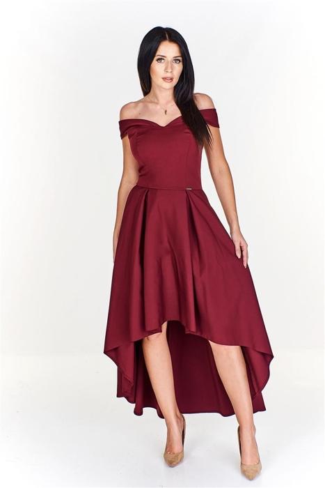 dd8dbdd157 Zjawiskowa sukienka z asymetrycznym dołem i opadającymi ramiączkami ...