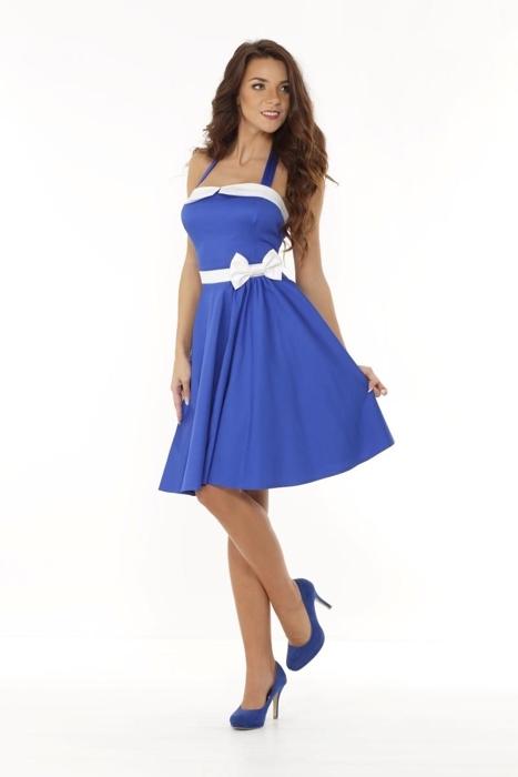 e698decd8d Rozkloszowana sukienka w stylu pin up z gorsetową górą