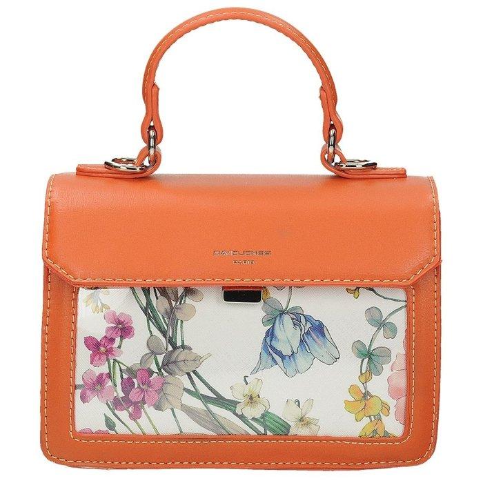 dfeed56242d50 Pomarańczowa torebka listonoszka z kolorowym przodem DAVID JONES CM5110
