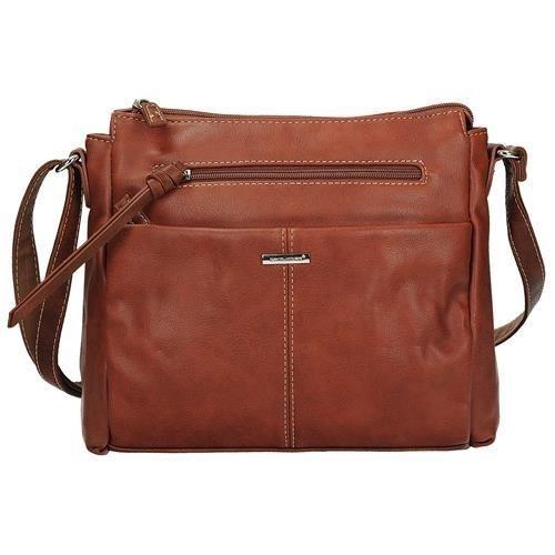 bcc29cf41bbaf Damska torebka listonoszka w kolorze brązowym DAVID JONES 5855-2 ...