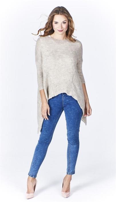 18f6f1439776c0 Asymetryczny sweter damski | Fokus.pl