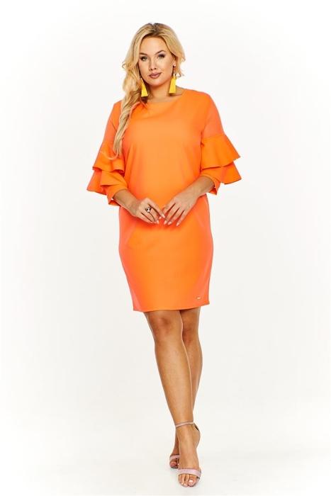 3b322a61f7 Sukienka z falbaniastymi rękawami Pomarańczowy