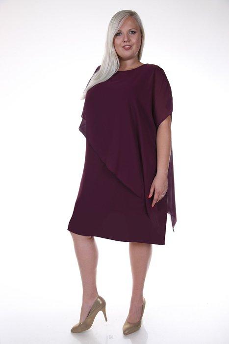 Sukienka FSU770 BAKŁAŻAN