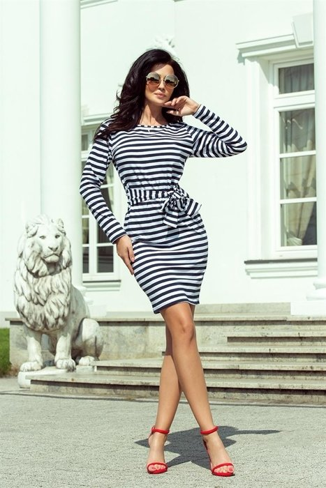 2fa527a0 Dzianinowa sukienka w paski | KOBIETA \ Classic Line Dress KOBIETA ...