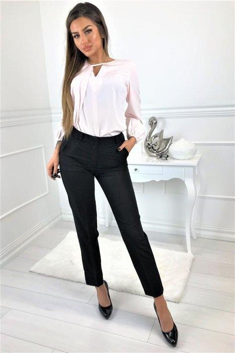 fcd1247863 Spodnie o klasycznym kroju czarny