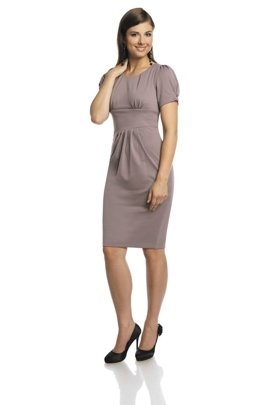 Dress FSU237 BEIGE-PINK