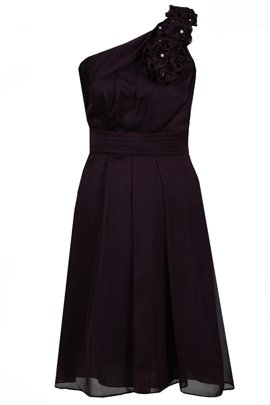 Dress FSU255 DARK PLUM