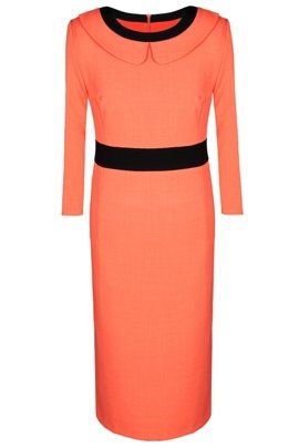 Dress FSU285 ORANGE BLACK