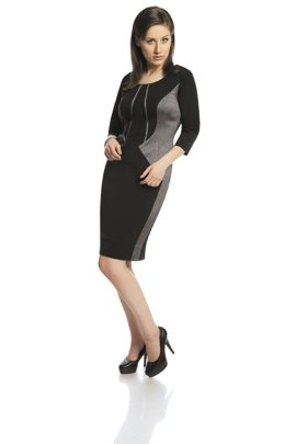 Dress FSU422 BLACK GREY