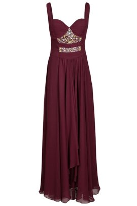 FSU702 Dress BURGUNDY
