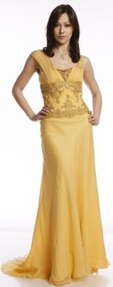 FSU716 Dress GOLD