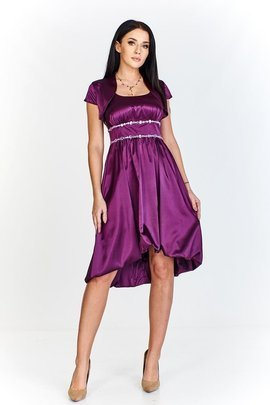 FSU735 Dress DARK PLUM