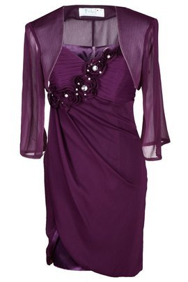 FSU736 Dress DARK PLUM