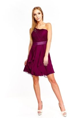 FSU739 Dress DARK PLUM