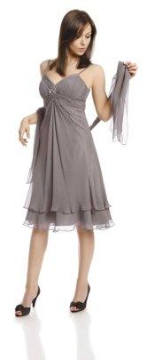b1ccf972 FSU705 Dress PALE GREY FSU705 Suknia SZARY JAS.   KOBIETA \ Midi ...