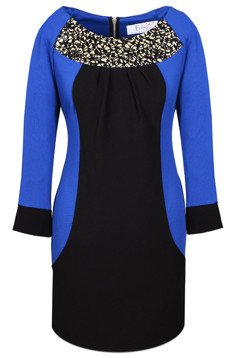 Tunic FTU306 BLACK CORNFLOWER BLUE