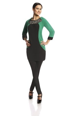 Tunic FTU306 BLACK SEA GREEN