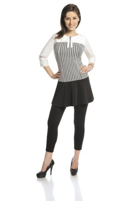 Tunic FTU409 BLACK IVORY