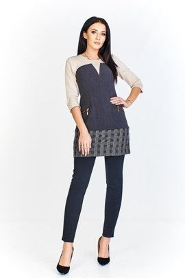 Tunic FTU412 GREY BEIGE