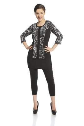 Tunic FTU415 BLACK IVORY