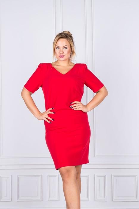 edc64cdcb53425 Czerwony | KOBIETA \ Classic Line Dress KOBIETA \ Sukienki codzienne  KOBIETA \ Sukienki czerwone KOBIETA \ Sukienki pracy | Suknie Wizytowe |  Suknie ...